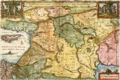 Mapa Svaté země a biblického ráje.